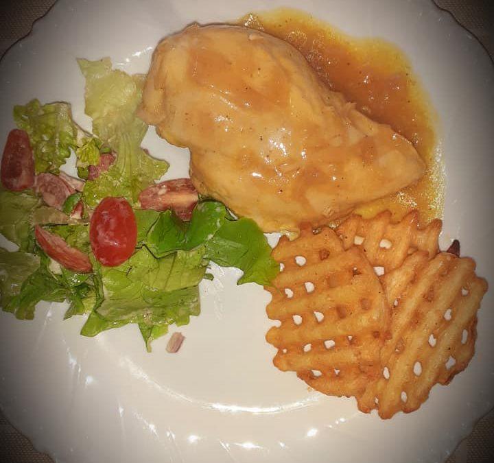 Poitrine de poulet à l'orange et sirop d'érable